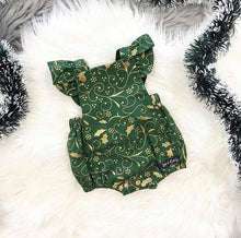 Load image into Gallery viewer, RM Stella Green Vintage Romper Size 1