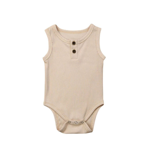 Ribbed Singlet - Oatmeal