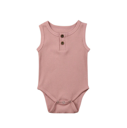 Ribbed Singlet - Dusty Pink