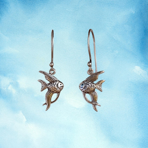 Silver Earrings Angelfish