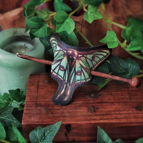 Hair Barrette Luna Moth