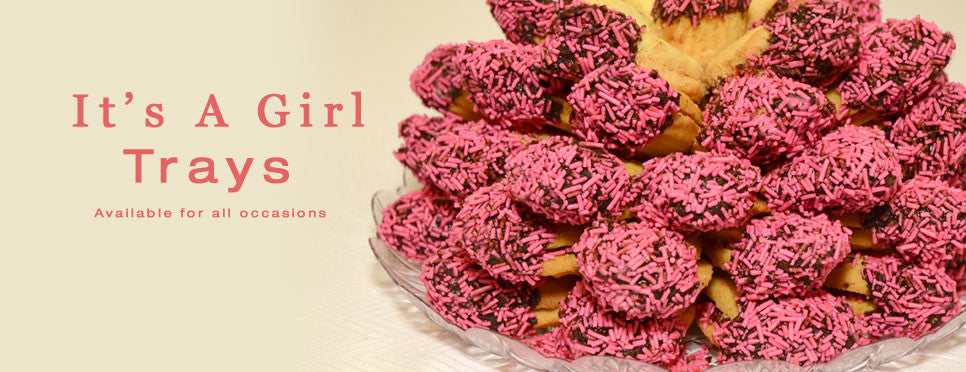 It's A Girl Pink Sprinkle Cookies