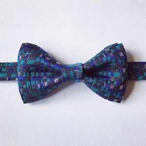 Navy & Green Plaid Classic BowTie