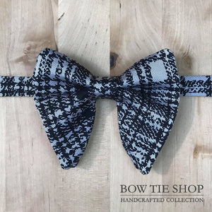 Plaid Large Wing BowTie