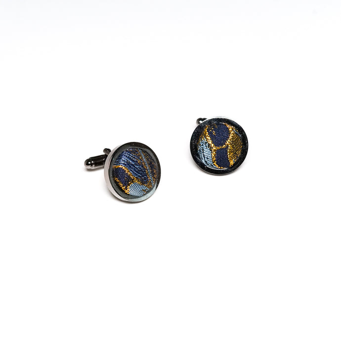 Golden Floral Berry Cufflinks