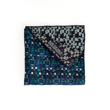 Load image into Gallery viewer, Navy & Green Plaid Classic Pocket Square