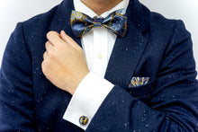 Load image into Gallery viewer, Golden Floral Berry Classic BowTie