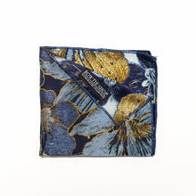 Load image into Gallery viewer, Golden Floral Berry Pocket Square