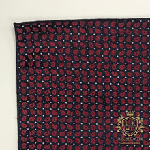 Load image into Gallery viewer, Ruby Floral w/ Navy Pocket Square