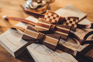 [Limited Edition] Mori Matching Wooden BowTie