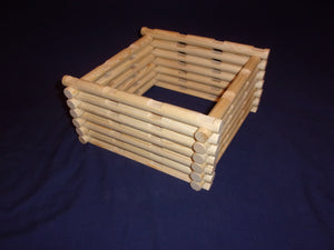 4 notch cabin-building logs, 32 pieces, handmade