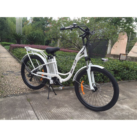 Big Cat Long Beach Cruiser Electric Bicycle 500w Low Step Through Thin Tire