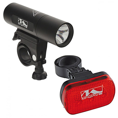 M-Wave Atlas 22 Bicycle Headlight & Taillight Set