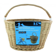 Quick Release Wicker Bicycle Basket with Handle