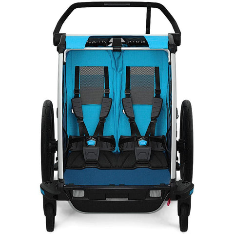 Thule Chariot Cross1 Blue Bicycle Trailer Jogger Stroller