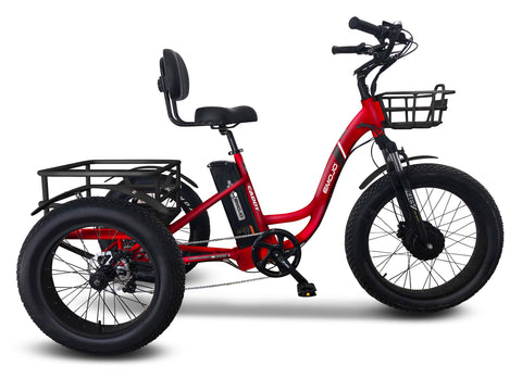 [Pre-Order] Emojo Caddy Pro Seven Speed Electric Adult Tricycle 500w 48v Fat Tires