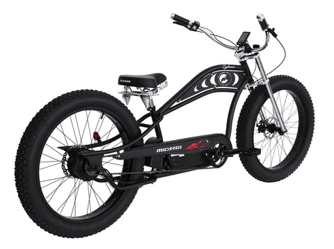 "Marcargi 26x4.0"" Full Size Stretch Chopper Electric Bike"
