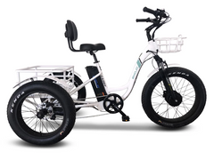 Emojo Caddy Seven Speed Electric Adult Tricycle 500w 48v Fat Tires