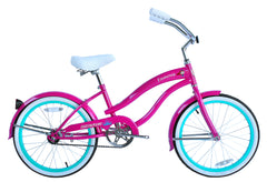 Micargi Famous 20″ Steel Frame Girl's Beach Cruiser