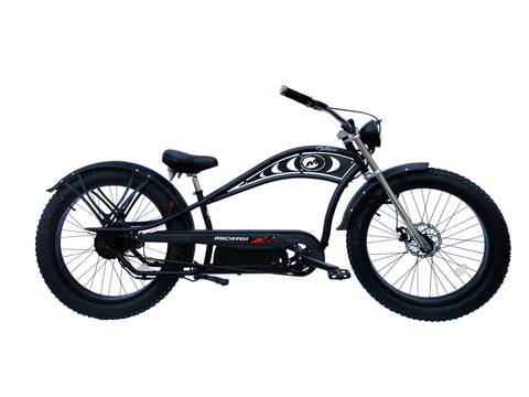 Micargi Cyclone 2.0 Deluxe Cruiser Electric Bicycle 500w with Headlight