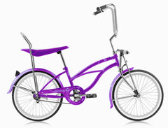 Micargi Hero 20″ Girls Lowrider Beach Cruiser Banana Seat