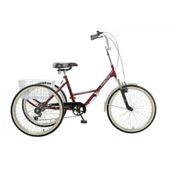 Mantis Tri-Rad 24  Adult Folding Tricycle - 6 Speed