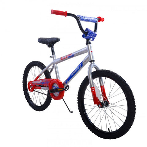 Apollo Flipside 18 in Boys Silver Kids Bicycle