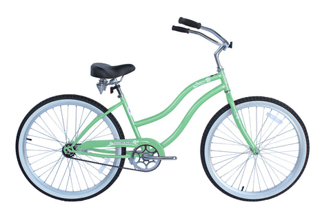 Pantera 26″ Single-Speed Stainless Steel Beach Cruiser Women's Bicycle