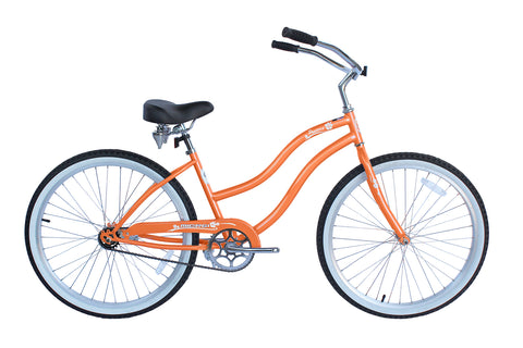 Pantera 24″ Single-Speed Stainless Beach Cruiser Women's Bicycle