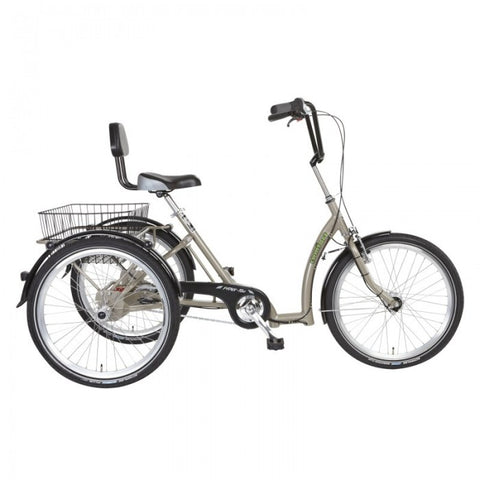 P-TEC Comfort 24 Adult 7 Speed Tricycle with Basket
