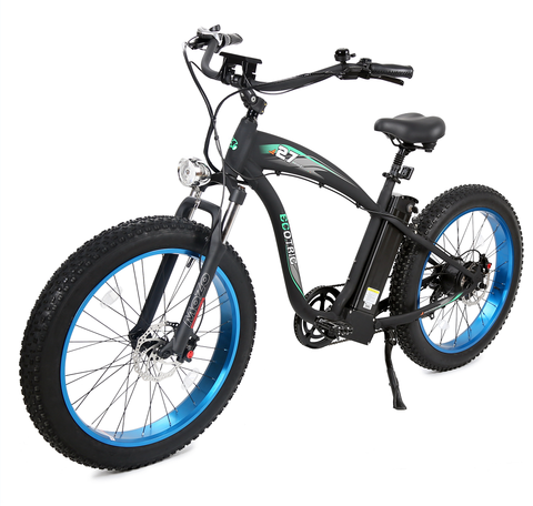 Hammer Electric Bike 1000 Watt Rear Hub Fat Tire Beach Snow - Ecotric (Open Box)