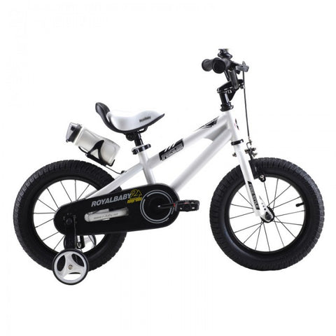 RoyalBaby Freestyle White 16 inch Kids Bicycle Wide Tires