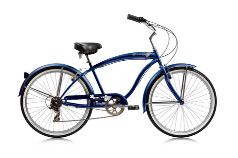 26″ Micargi Rover 7 Speed Men's Beach Cruiser Shimano RS35 V-Brake