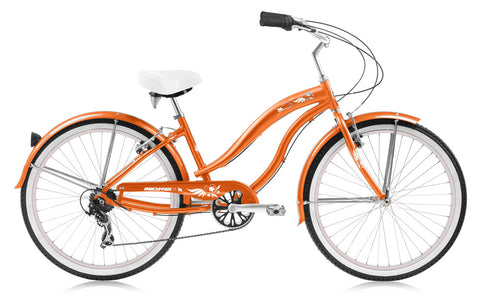 Micargi Rover LX 24″ 7 Speed Aluminum Frame Beach Cruiser Bicycle