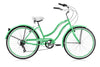 Image of 24″ Tahiti Retro Handlebar 7 Speed drive train Shimano Shifter Coaster Brakes Beach Cruiser Bicycle