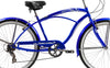 Image of 24″ Tahiti Retro Handlebar 7 Speed Shimano Shifter Coaster Brakes Beach Cruiser Bicycle