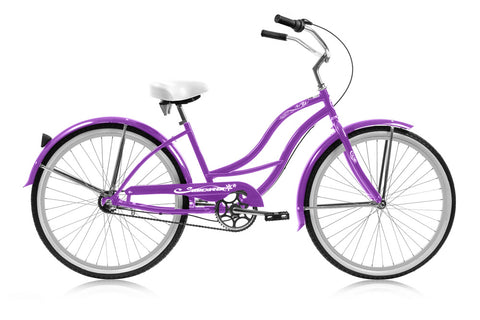 "Tahiti 24"" NX3 Beach Cruiser 3 Speed Bicycle"