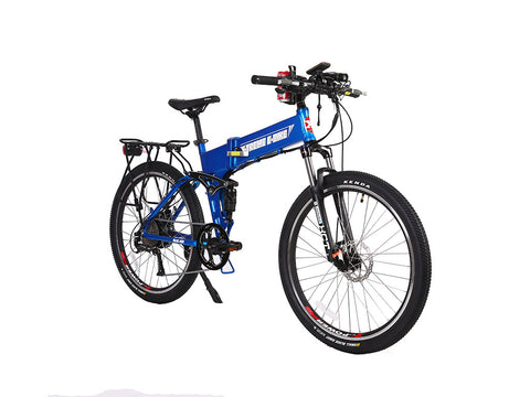 Baja Folding Mountain Electric Bicycle Lithium 48 Volt Powered 500 Watt X-Treme