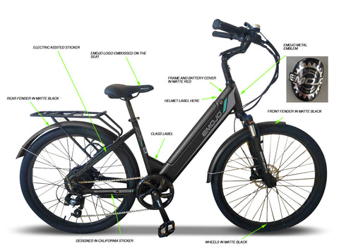Emojo Panther Pro 48v Low Step Through Electric Bicycle