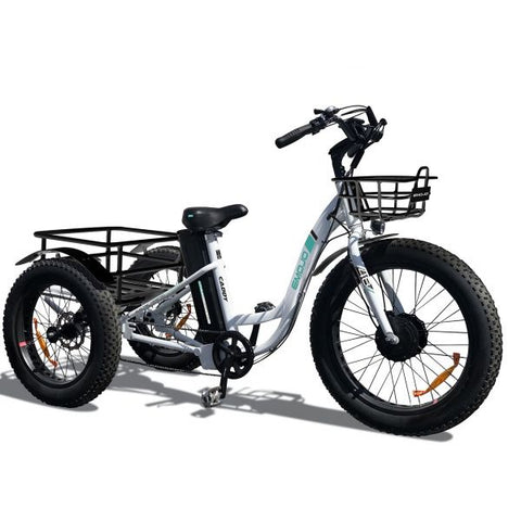 PRE ORDER Emojo Caddy Seven Speed Electric Adult Tricycle 500w 48v Fat Tires