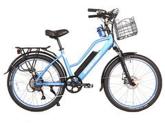 Catalina Electric Step-Through Beach Cruiser Bicycle 48 Volt Lithium Powered  X-Treme