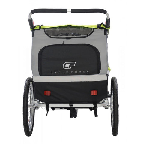 Cycle Force  C23 Double Child 3-In-1 Bicycle Trailer, Jogger, Stroller