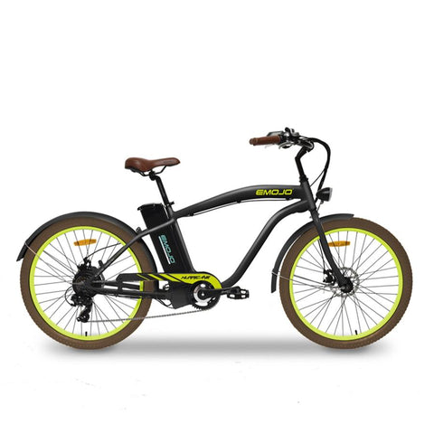 Emojo Hurricane Black/Acid Green 36V 500W Beach Cruiser