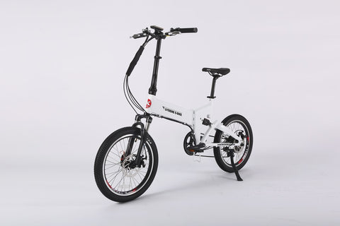 E-Rider Electric Folding Mini Bicycle   48 Volt Lithium Powered X-Treme