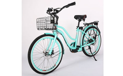 350 w e-bike mint green