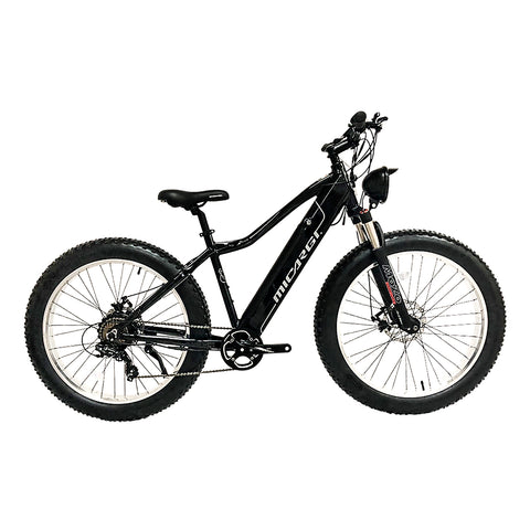 Micargi EB-STEED-MATTE BLACK 7 Speed Electric Mountain Bike 800w