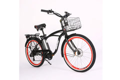 Newport Elite Electric Beach Cruiser Bicycle 24 Volt Lithium Powered X-Treme