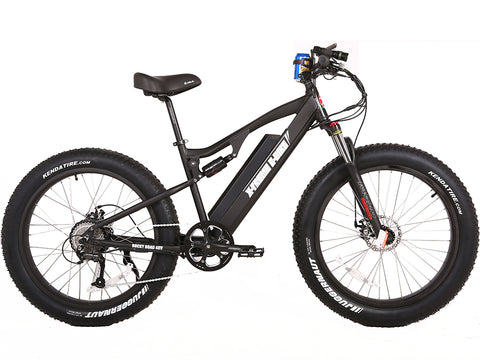 Rocky Road Electric Fat Tire Mountain Aluminum Bicycle 48 Volt Lithium Powered X-Treme