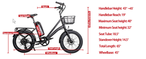 Civi Rebel Foldable FAT Tire Electric Bicycle 500w 48v 13Ah