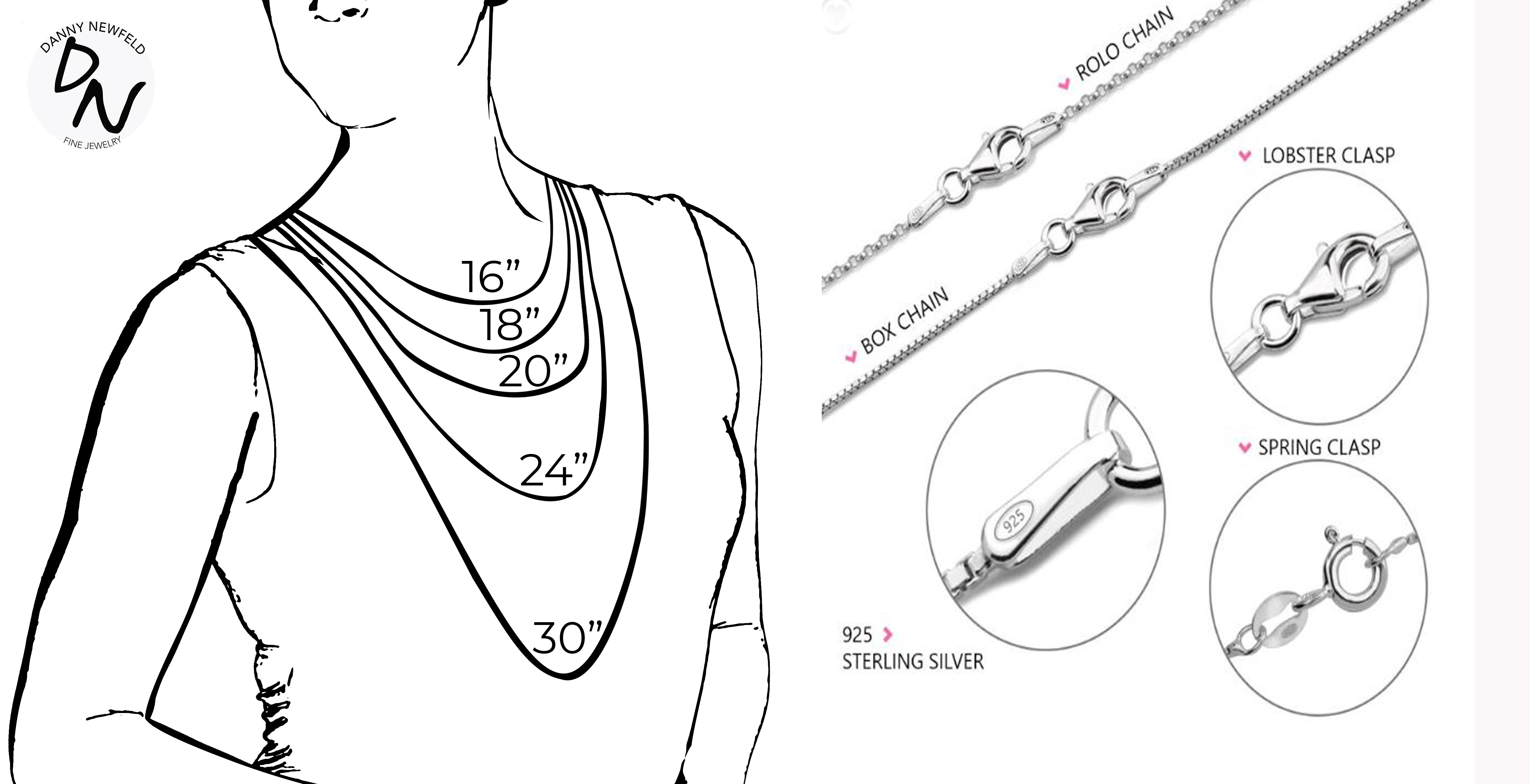 Danny Newfeld Necklace Sizing Guide
